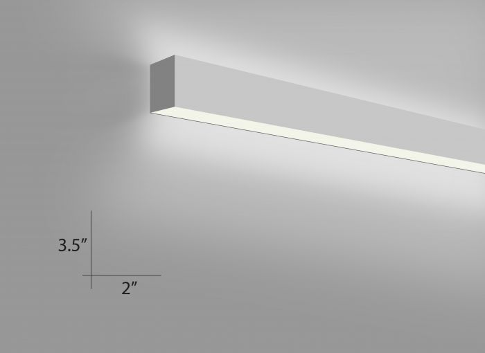 Alcon Lighting 12100-23-W Continuum 23 Series Architectural LED Linear Wall Mount Direct/Indirect Light Fixture
