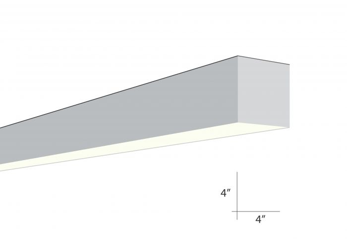 Alcon Lighting Beam 44 Series 6016-4 Architectural 4 Foot Surface Linear Fluorescent Ceiling Light Fixture