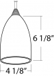 Image 2 of Alcon Lighting 12304 Beleza Architectural LED Metallic Bell Pendant Mount Direct Down Light Fixture