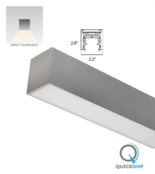 Image 1 of Alcon Lighting 12100-22-S Continuum 22 Architectural LED Linear Surface Mount Direct Light Fixture