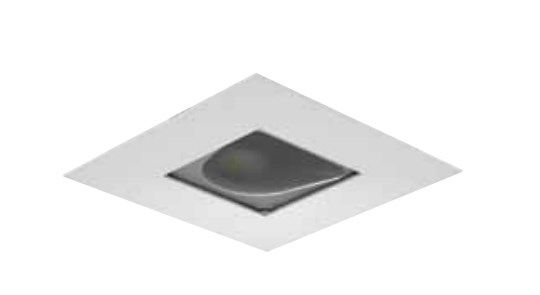 Image 1 of Intense Lighting IL-WSTR STRW303 Wall Wash Square Trimmed LED Downlight Square Light + Trim + Housing