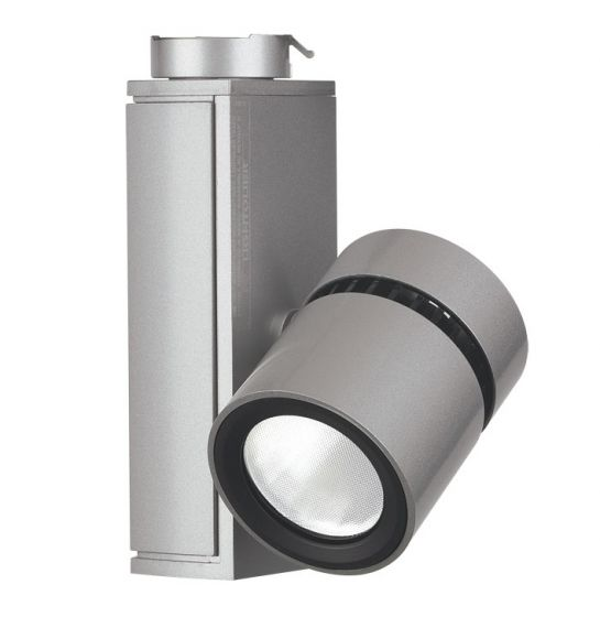 Image 1 of Lightolier Lytespan Mini LED Track Light Micro Cylinder 3000K Aluminium LLAV0030AL