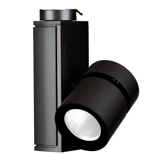 Image 1 of Lightolier Lytespan Mini LED Track Light Micro Cylinder 3000K Black LLAV0030BK
