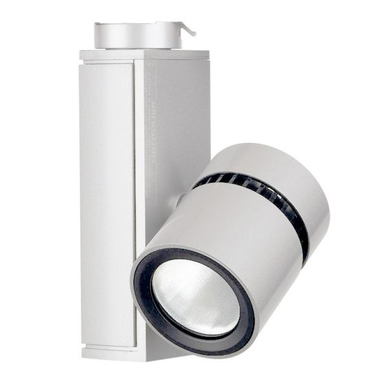 Image 1 of Lightolier Lytespan Mini LED Track Light Micro Cylinder 3000K White LLAV0030WH