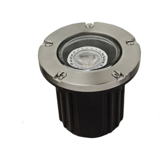 Alcon Lighting 9026-SS Harper Architectural Landscape LED 5 Inch Low Voltage In-Ground Drive-Over Rated Marine Grade Stainless Steel Well Light
