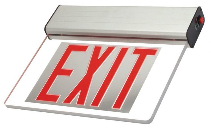 Artic City of New York Approved Surface Edge Lit LED Exit Sign