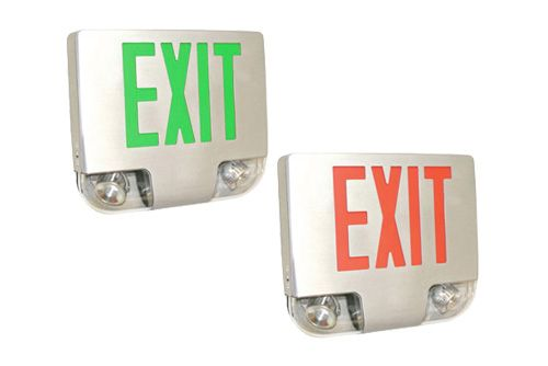 Image 1 of Alcon Lighting 16114 Combination LED Exit and Emergency Spot Light