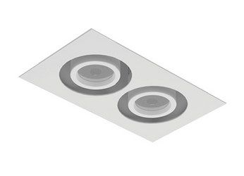 Image 1 of Intense Lighting MXFM2 MX Double LED Recessed Lighting Multiple - 2 Light + Housing + Trim