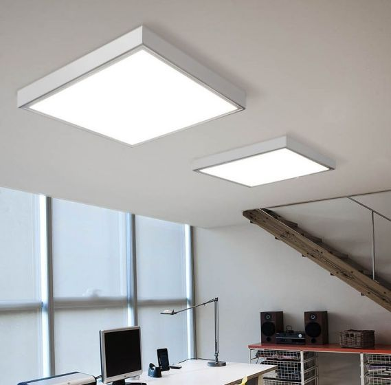 Image 1 of Alcon Lighting 11150 Prisma Architectural LED Surface Mount Shallow Shroud and LED Flat Panel Box