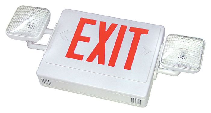 Alcon Lighting DCLX-C LED Exit Sign with Emergency Light
