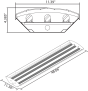 Alcon Lighting 15222-5 Infinum Architectural Commercial LED 5-Lamp Linear High Bay Direct Down Light Fixtures