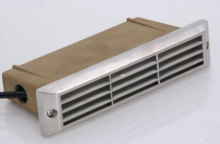 Image 1 of SPJ SPJ17-09-LED-BS Outdoor 2 Watt LED Brass Recessed Step Light