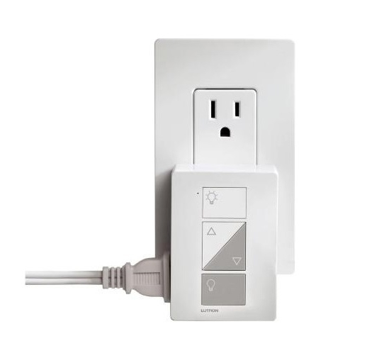 Image 1 of Lutron Caseta Wireless PD-3PCL-WH Plug In Lighting Dimmer 120V White