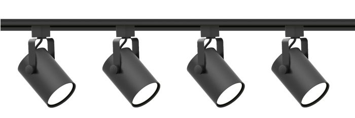 Alcon Lighting 13124-4 Sinch Architectural LED Cylinder Track Light Fixture kit - 4 Light
