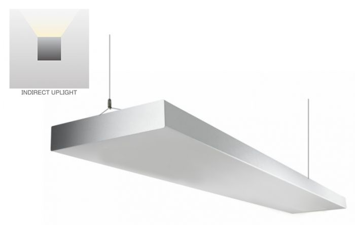 Alcon Lighting 12113-I-4 NLP Architectural LED Linear Suspended Pendant Mount Indirect Up Light Fixture -  4 Foot