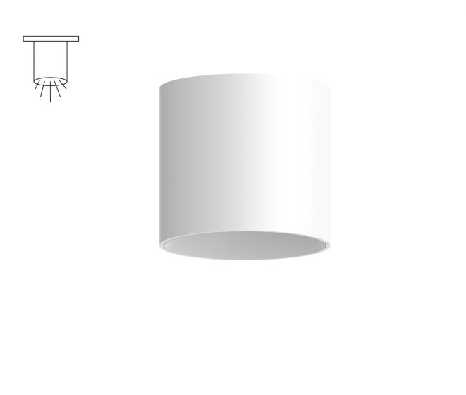 Alcon Lighting 11147-S Cilindro I Architectural LED Small Modern Cylinder Surface Mount Direct Light Fixture