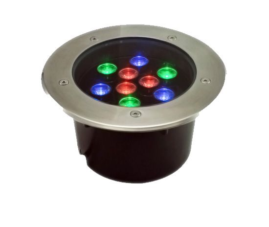 Alcon Lighting London 9034 Aluminum Outdoor LED 9W Remote Controlled RGB Color Changing Well Light