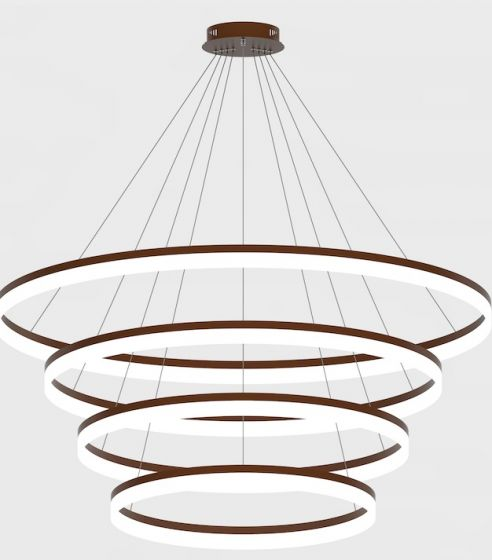 Image 1 of Alcon Lighting 12272-4 Redondo Architectural LED 4 Tier Ring Direct Downlight Chandelier Light