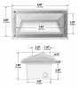 Image 3 of Alcon Lighting 9608 Luxor Architectural LED Low Voltage Step Light Recessed Wall Mount Fixture