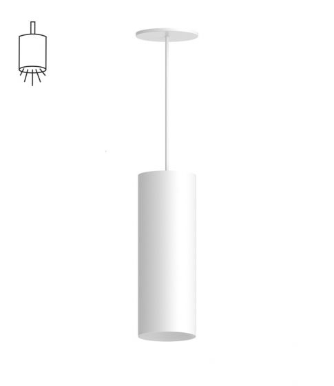 Alcon Lighting 12307-P Cilindro III Architectural LED Large Modern Cylinder Pendant Mount Direct Light Fixture