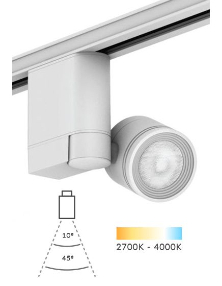 Alcon Lighting Daina 13106 LED Track Light Fixture 10W 720 Lumen Die-Cast Aztec