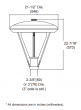 Alcon Lighting 11402 Elroy Architectural LED Post Top Light Fixture