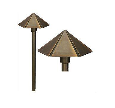 Alcon Lighting 9073 Washington Solid Brass Low Voltage LED Architectural Landscape Path Light Fixture
