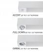 Alcon Lighting 12178 Spot Light Box Architectural LED Linear Suspension Pendant Mount Fixture