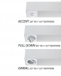 Alcon Lighting 11161 Spot Light Box Architectural LED Linear Suspension Wall Mount Fixture