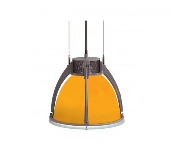 Alcon Lighting Santorini 8010 Architectural High Bay Fluorescent Commercial Lighting Pendant - Glass Shade