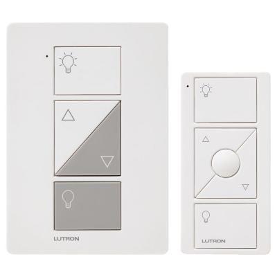 Image 1 of Lutron Caseta P-PKG1P-WH Caseta Wireless 300-watt/100-watt Plug-In Lamp Dimmer with Pico Remote Control Kit, White