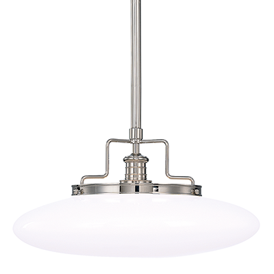 Image 1 of Hudson Valley Beacon 4228-PN Architectural LED Pendant Mount Light Fixture