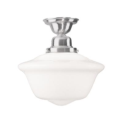 Image 1 of Hudson Valley Edison Semi Flush 1615F-SN LED Ceiling Mount Light Fixture