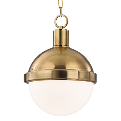 Image 1 of Hudson Valley Lambert 612-AGB Architectural LED Pendant Mount Light Fixture