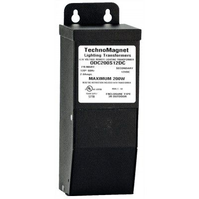 Image 1 of 200W 12V DC Indoor/Outdoor Dimmable LED DC Magnetic Transformer Driver