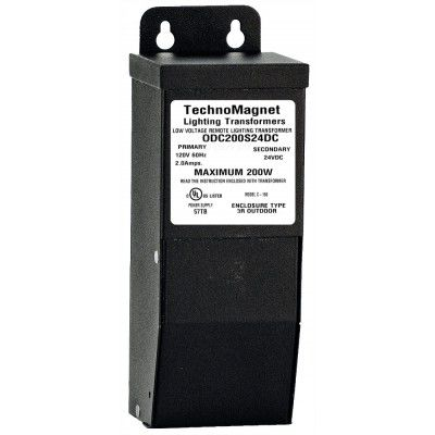 Image 1 of ODC200S24VDC 200W 24V DC Indoor/Outdoor Dimmable LED DC Magnetic Transformer Driver