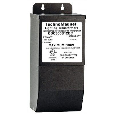 Image 1 of ODC300S12VDC 300W 12V DC Indoor/Outdoor Dimmable LED DC Magnetic Transformer Driver
