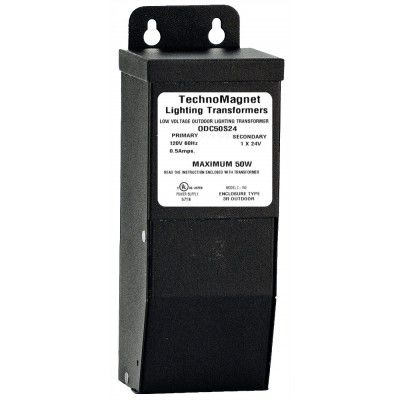 Image 1 of 50W 24V DC Indoor/Outdoor Dimmable LED DC Magnetic Transformer Driver
