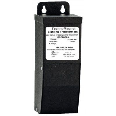 Image 1 of 60W 24V DC Indoor/Outdoor NEMA 3 Rated Dimmable LED DC Magnetic Transformer Driver