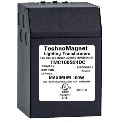 Image 1 of 100W 24V DC Indoor Dimmable LED DC Magnetic Transformer Driver