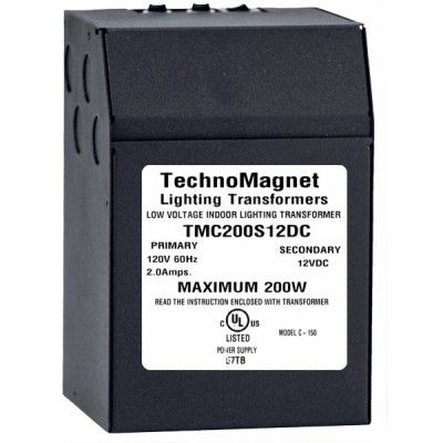 Image 1 of 200W 24V DC Indoor Dimmable LED DC Magnetic Transformer Driver