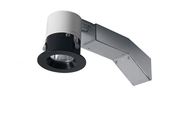 Image 3 of RAB RDLED2R8-20YY-TB - 2 Inch Round Remodel LED Recessed Light - Black Trim - 2700K