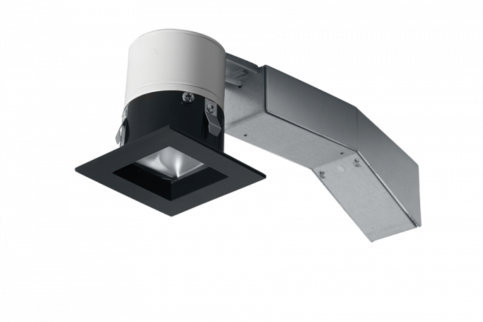 Image 3 of RAB RDLED2S8-20YY-TB - 2 Inch Square Remodel LED Recessed Light - Black Square Trim - 2700K