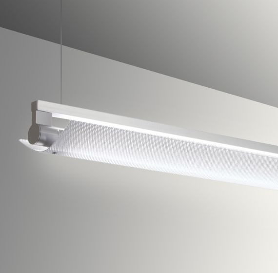 Image 1 of Gladstone Adjustable Architectural LED Strip Light Pendant - Perforated Direct/Indirect