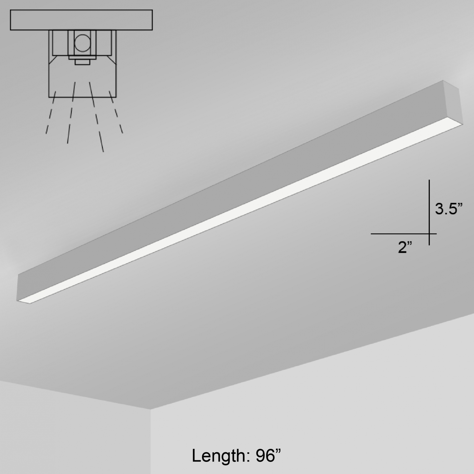 Alcon lighting 11137 8 s i253 series architectural led 8 foot linear alcon lighting 11137 8 s i253 series architectural led 8 foot linear surface mount direct light fixture alconlighting arubaitofo Images