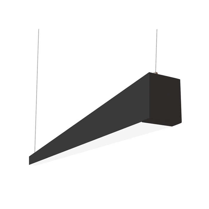 Alcon lighting beam 253 series 12145 4 bk led 2 5 inch aperture 4 foot enclosed linear pendant light fixture black alconlighting com