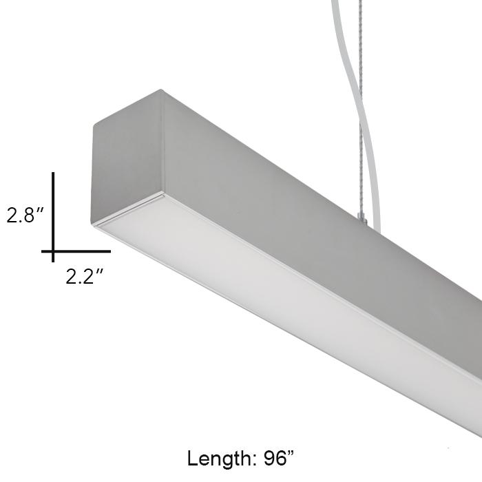 Alcon lighting 12169 8 beam 22 architectural led 8 foot linear alcon lighting 12169 8 beam 22 architectural led 8 foot linear suspension lighting pendant mount commercial light fixture alconlighting aloadofball Images