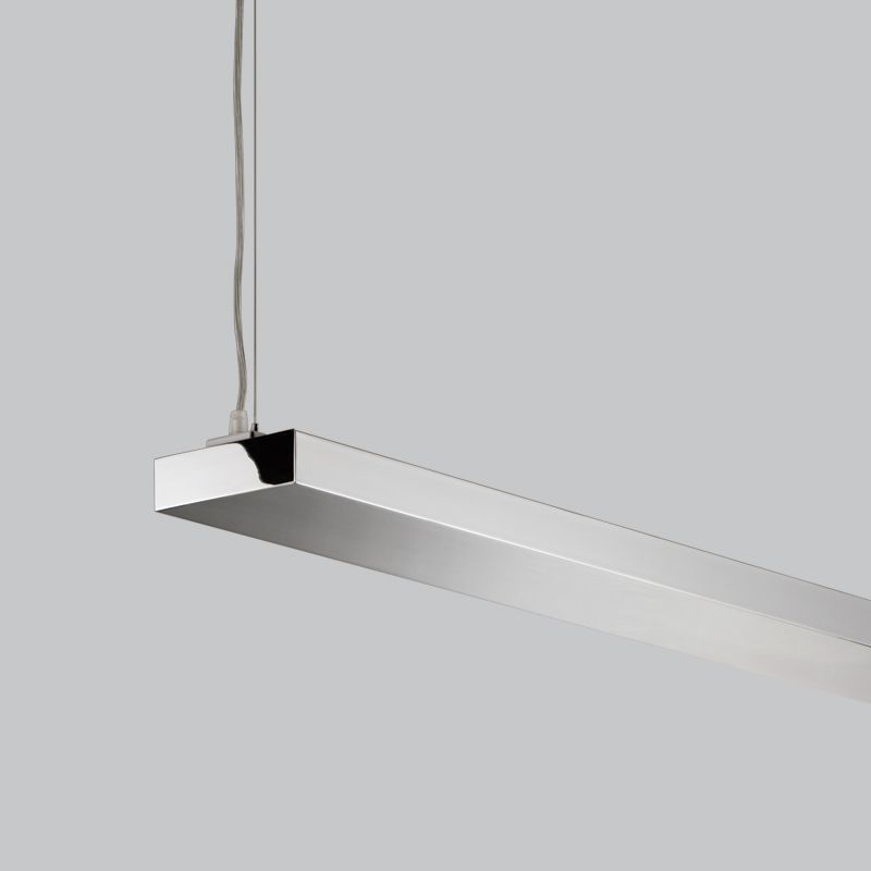 linear suspended lighting. Alcon Lighting Dusk Chrome Architectural Suspended Linear LED Direct/Indirect Office Fixture | Alconlighting.com