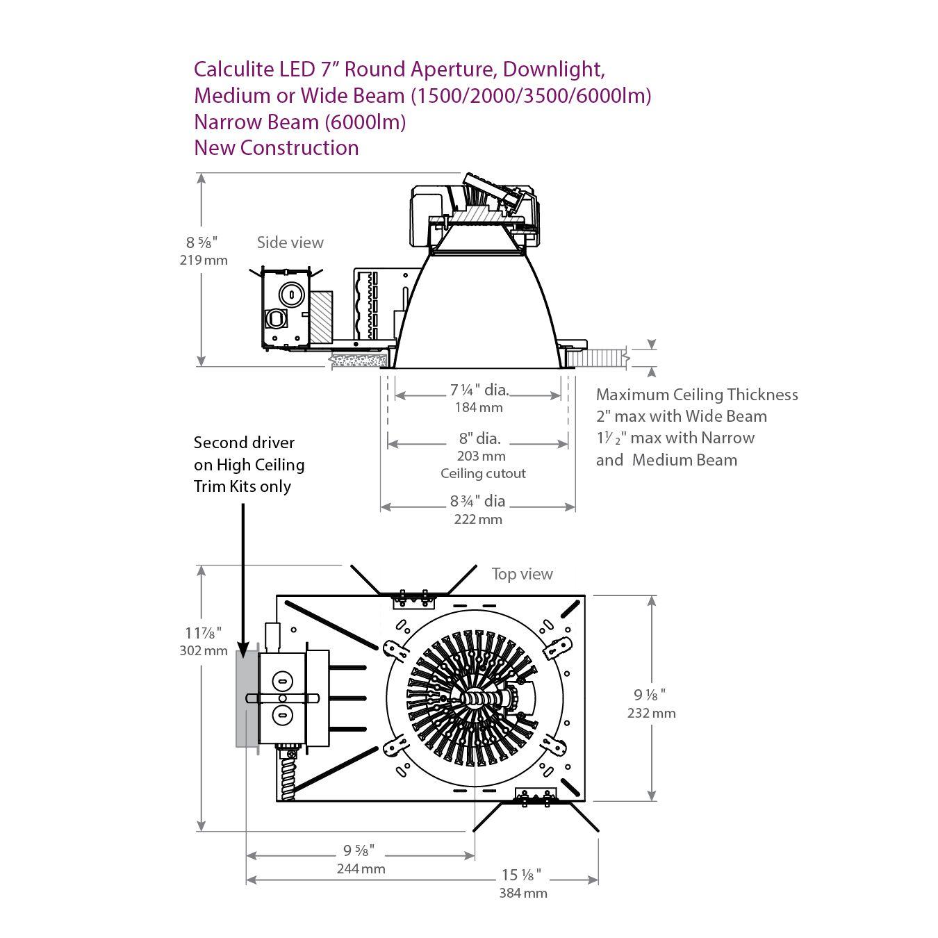c7l dl vb_c7l50n_c7l50dl_high_ceiling_dimensions lightolier c7l50n calculite led 7\