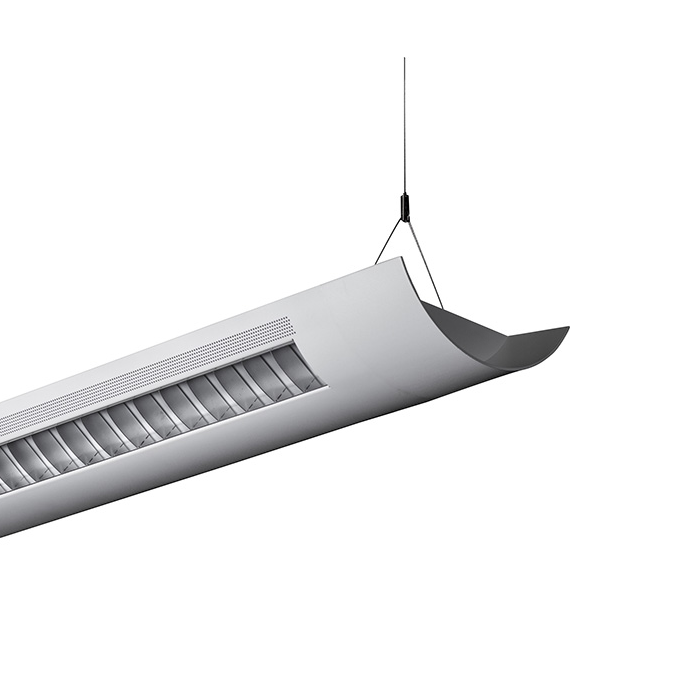 Alcon lighting catalina 10106 4 4 foot t8 and t5ho fluorescent architectural linear suspension direct indirect lighting fixture alconlighting com